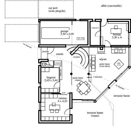 Maison En T Finest Maison Moderne Zphyr Plan Maison D With Maison